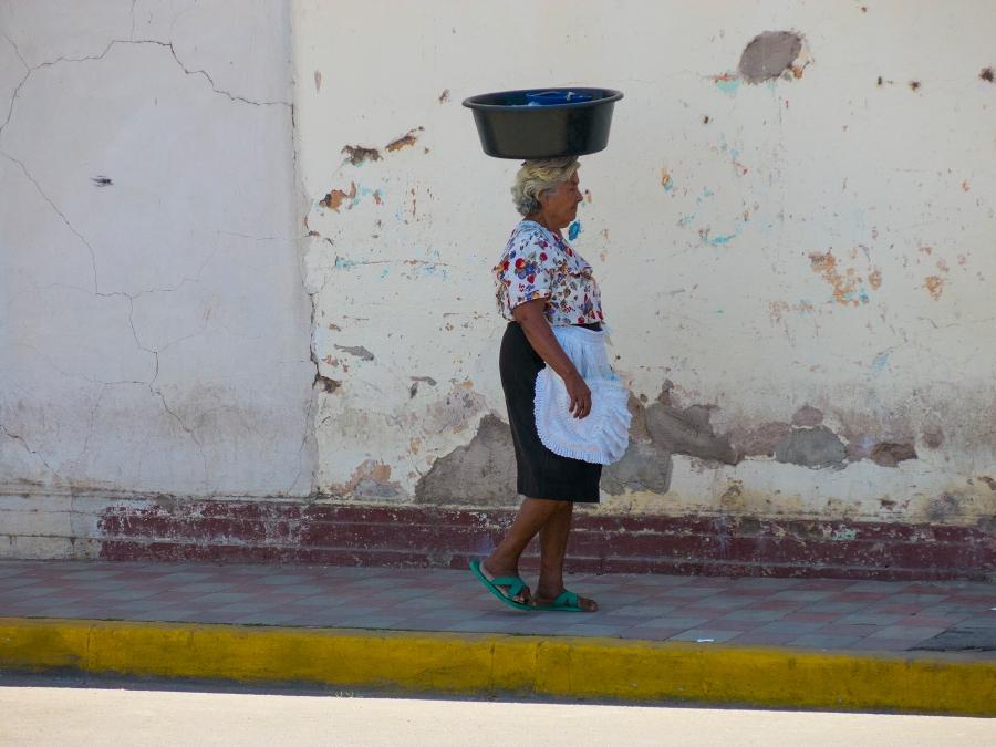 One-womanpower street vendor