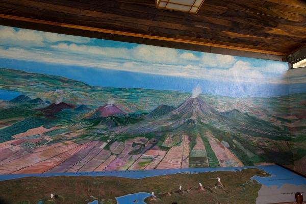 Volcano museum diorama