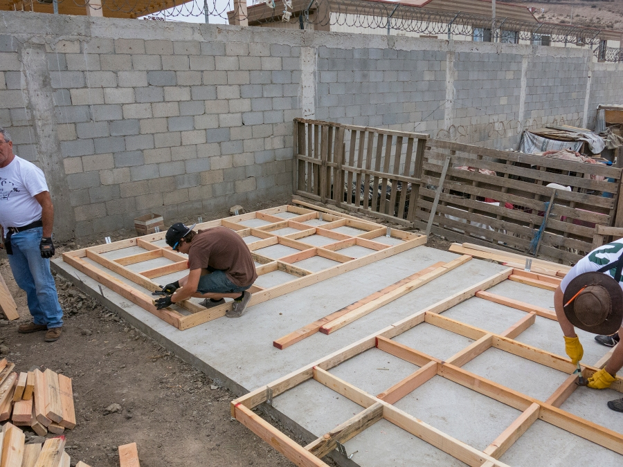 Building the front walls