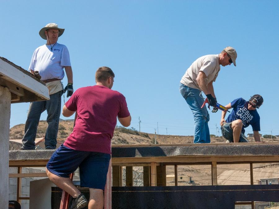 Roof crew