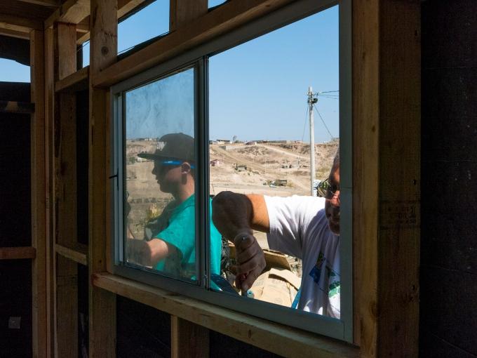 Finishing the window installation
