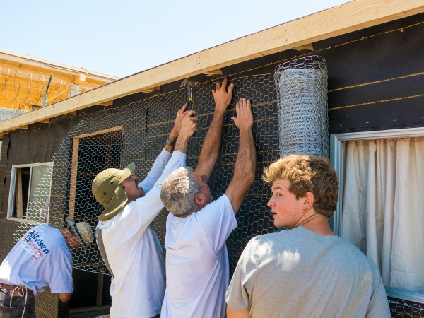 Stretching the chicken wire