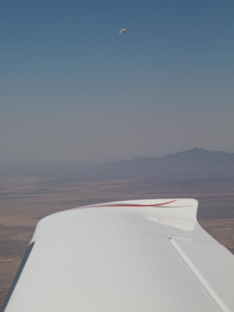 Tethered border surveillance Aerostat