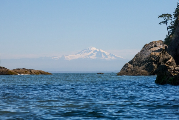 Kayakers' view of Mt. Baker