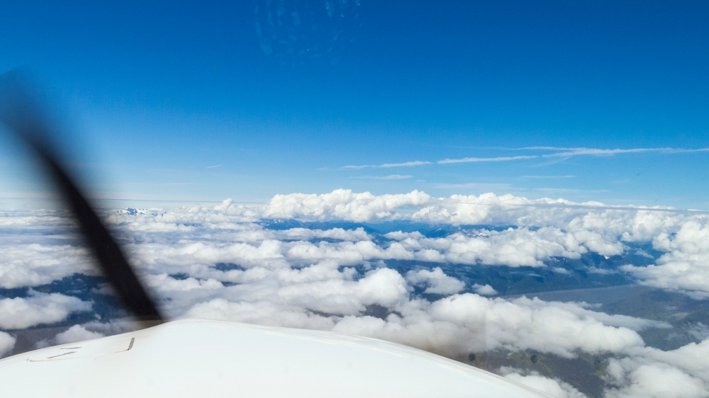 Cumulobumpus over the Olympic peninsula