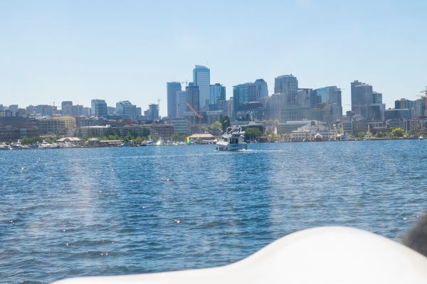Ahoy, matey!  On the water at Lake Union.