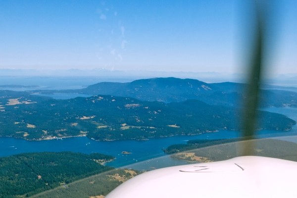 Passing Friday Harbor, inbound to Orcas