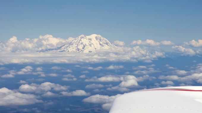 Mt. Ranier, to starboard