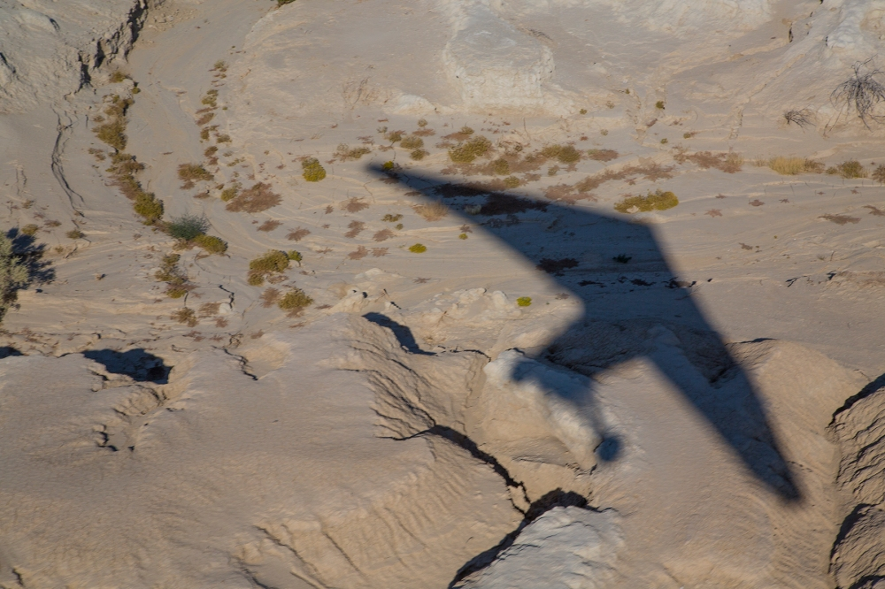 Swept wing shadow