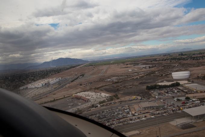 Turning final at Calexico international