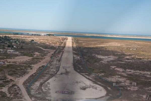 Short final to Matancitas runway 28