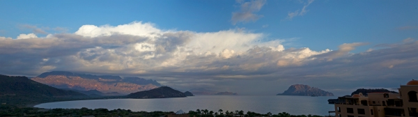 Loreto coast view from the Villa de Palmar