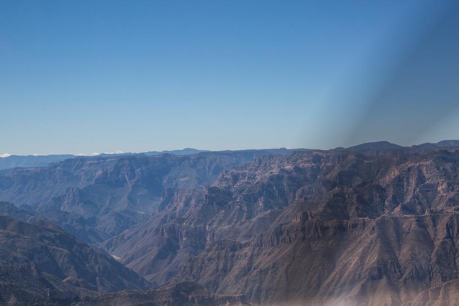 Real vision view below the canyon rim