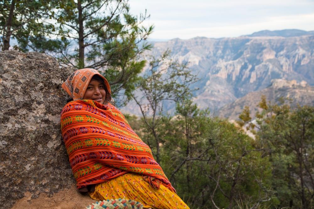Shy Tarahumara smile