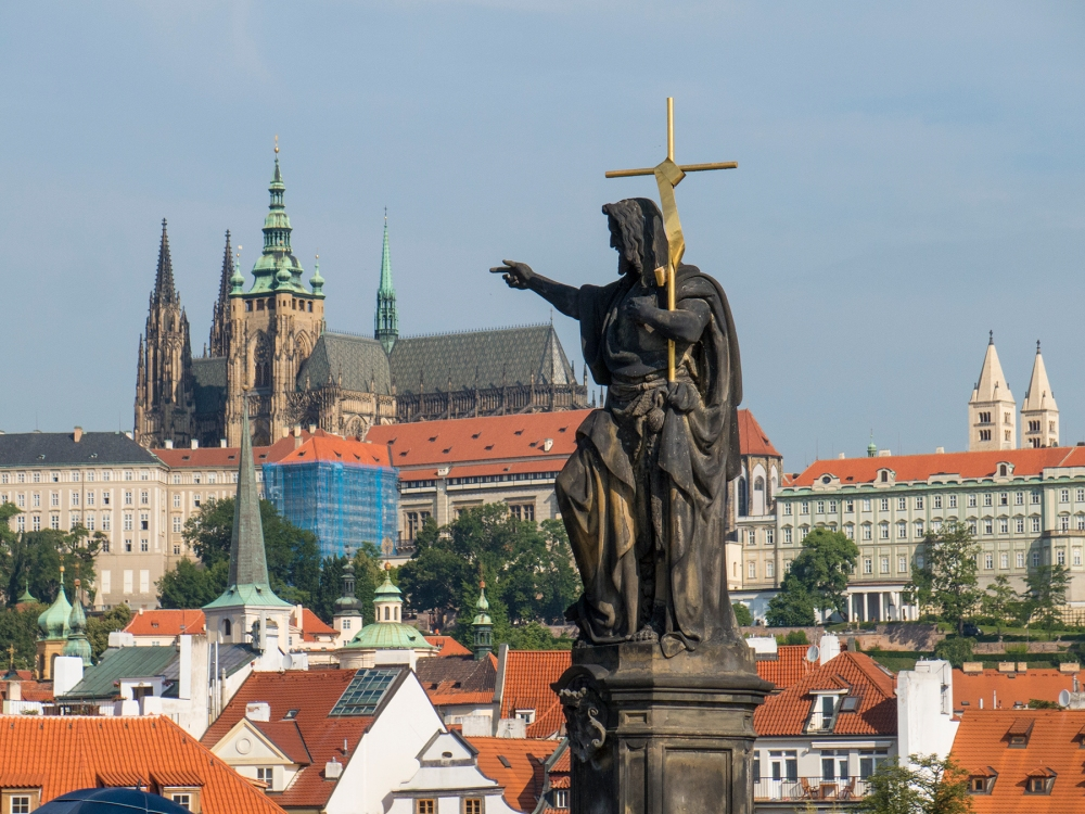 Religious admonition?  St. Vitus cathedral and the castle from Prague's Charles Bridge