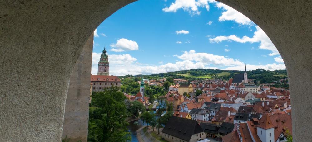 Cesky castle view