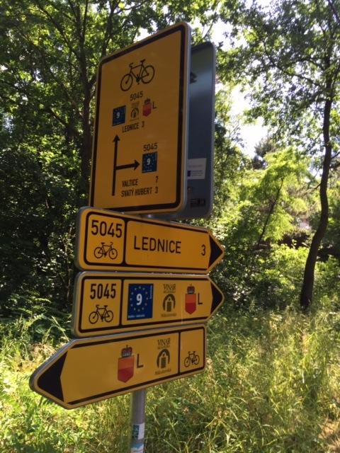 Czech bike sign