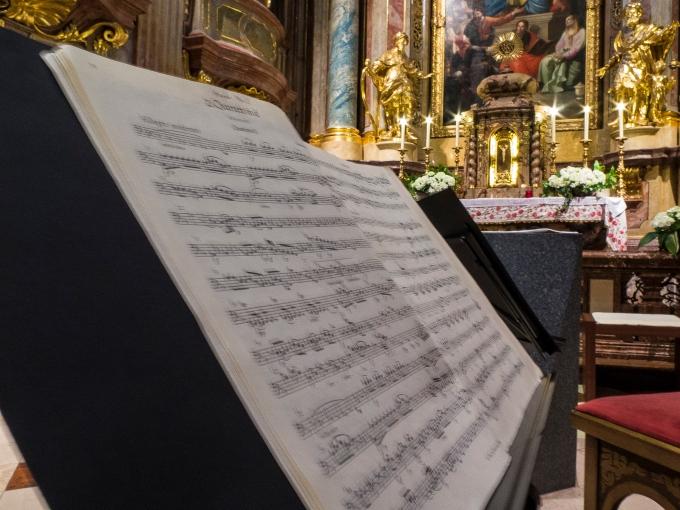 A Haydn score, St. Ana Kirche, Wein