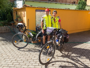 The beginning of a Czech Republic bicycling adventure