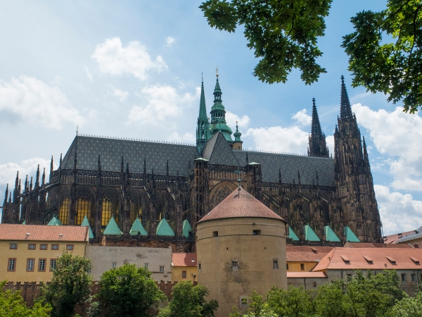 St. Vitus cathedral from the Royal Garden