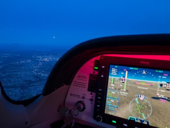 Off La Jolla Shores on descent