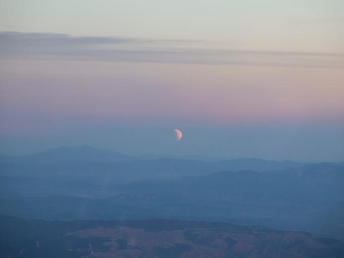 Peaks and moon