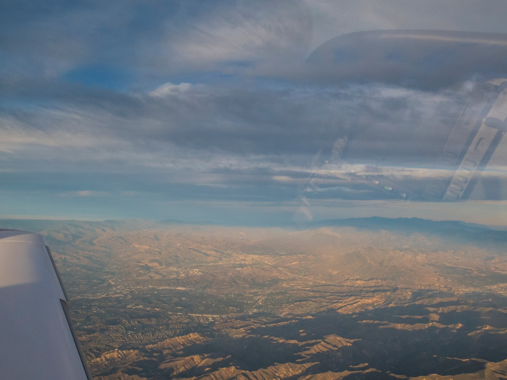 Near the Simi Valley. Nice avionics reflections.