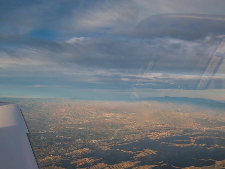 Near the Simi Valley. Nice avionics reflections.