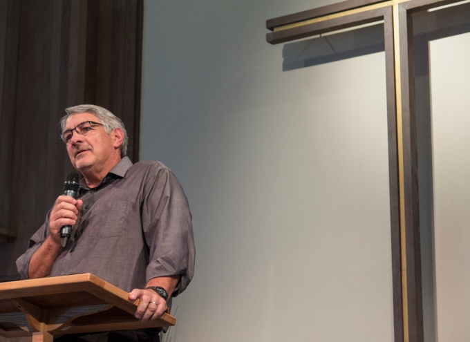 Steve reflecting on forty-three years of service to the lord and his parish
