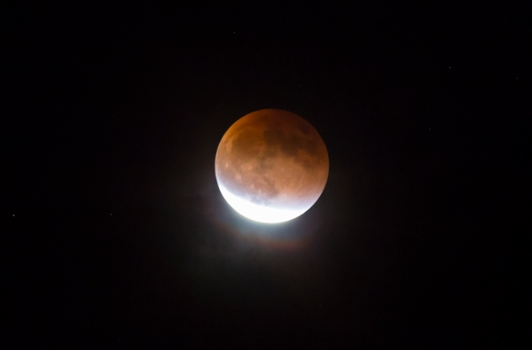 Waning umbral blood moon