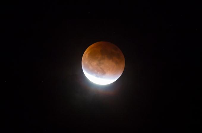 Waning umbral blood moon