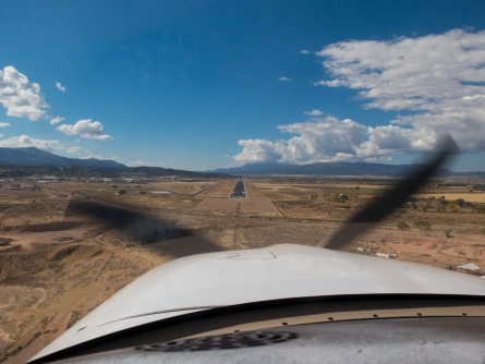 Short final approach to Cedar City runway 20