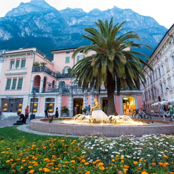 Riva del Garda fountain