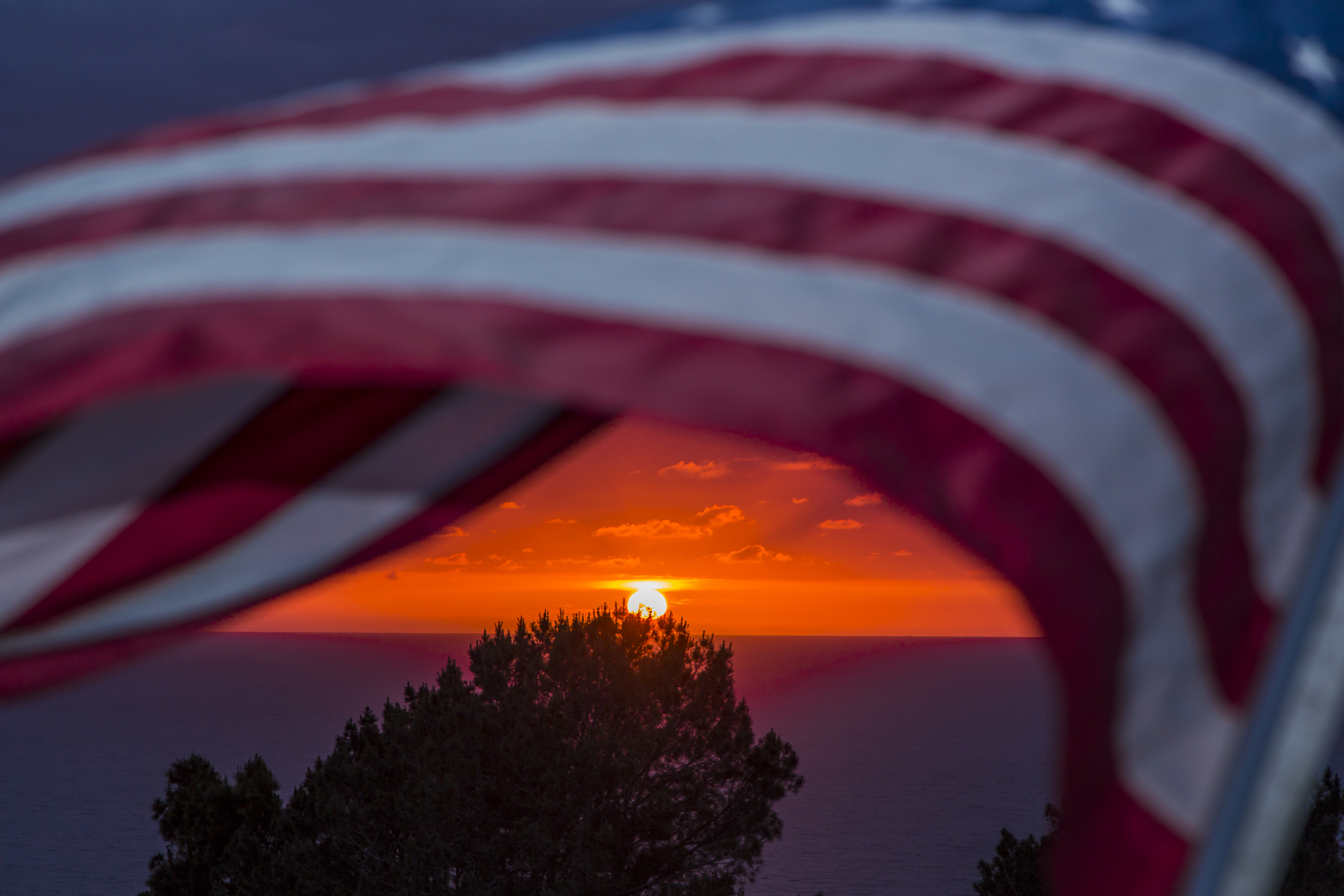 A proudly patriotic sunset