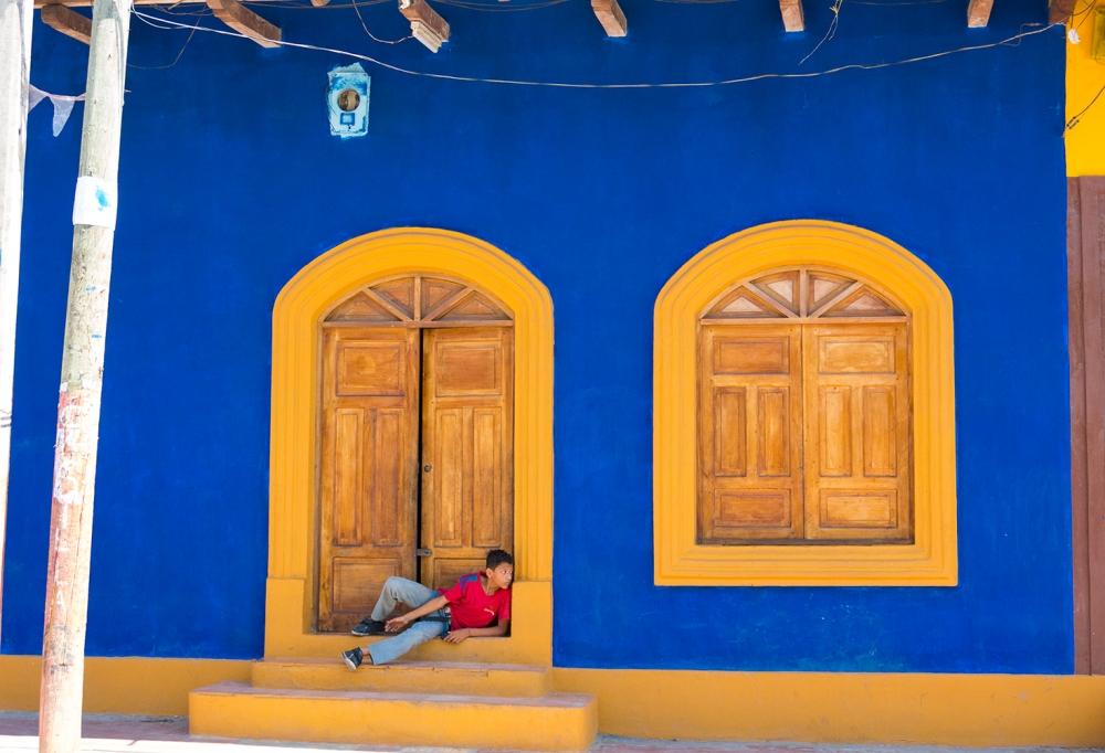 Blue wall boy