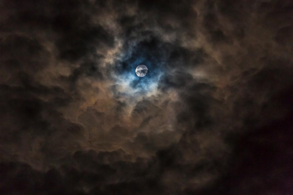 Cloud cave moon