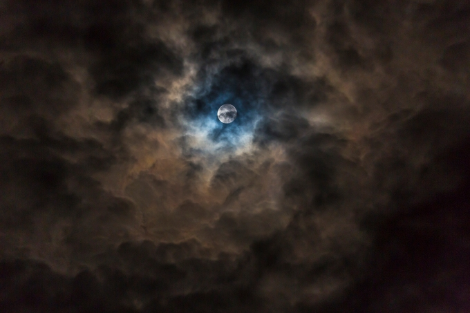 Cloud cave moon