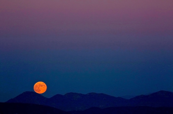 Moon over Mt. Woodson
