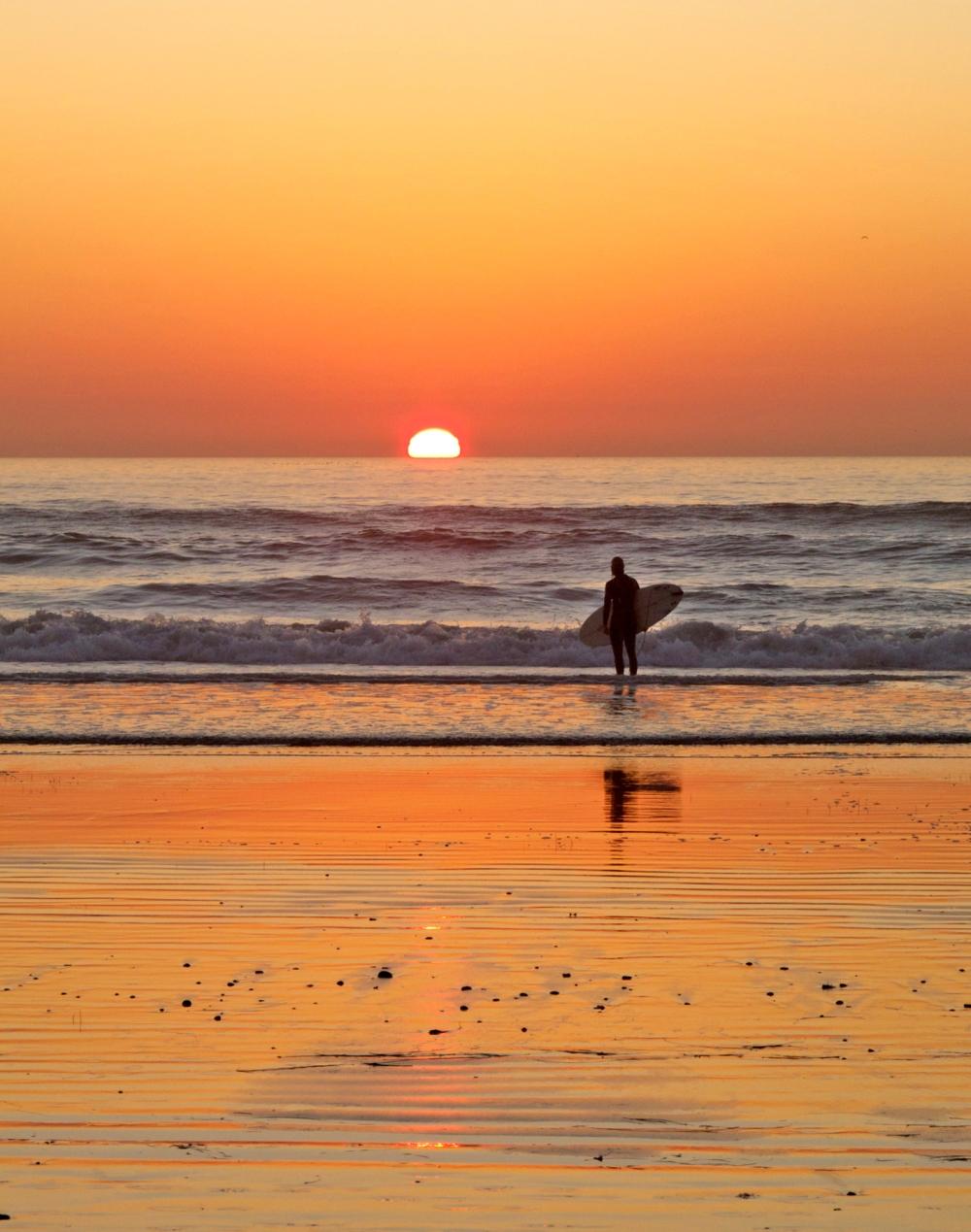 Surfer sundown