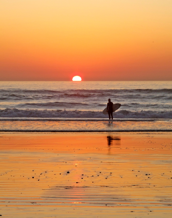 Surfer sundown
